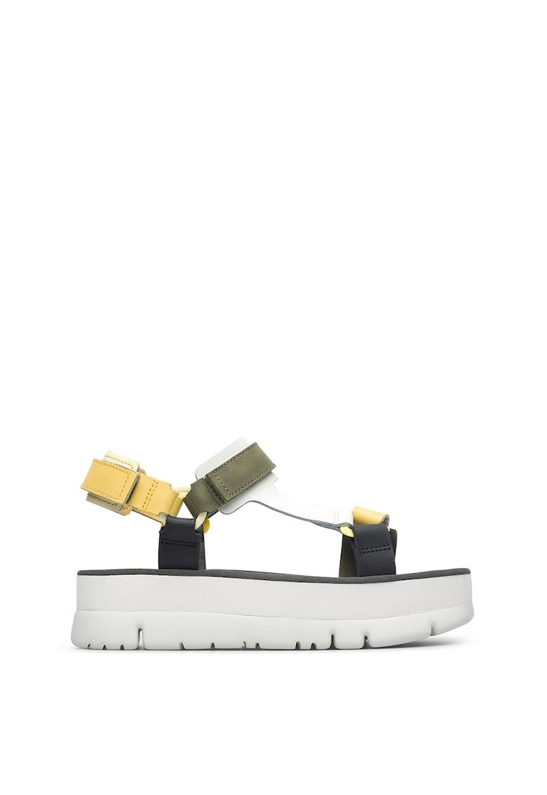 Sandale flatform de piele Oruga