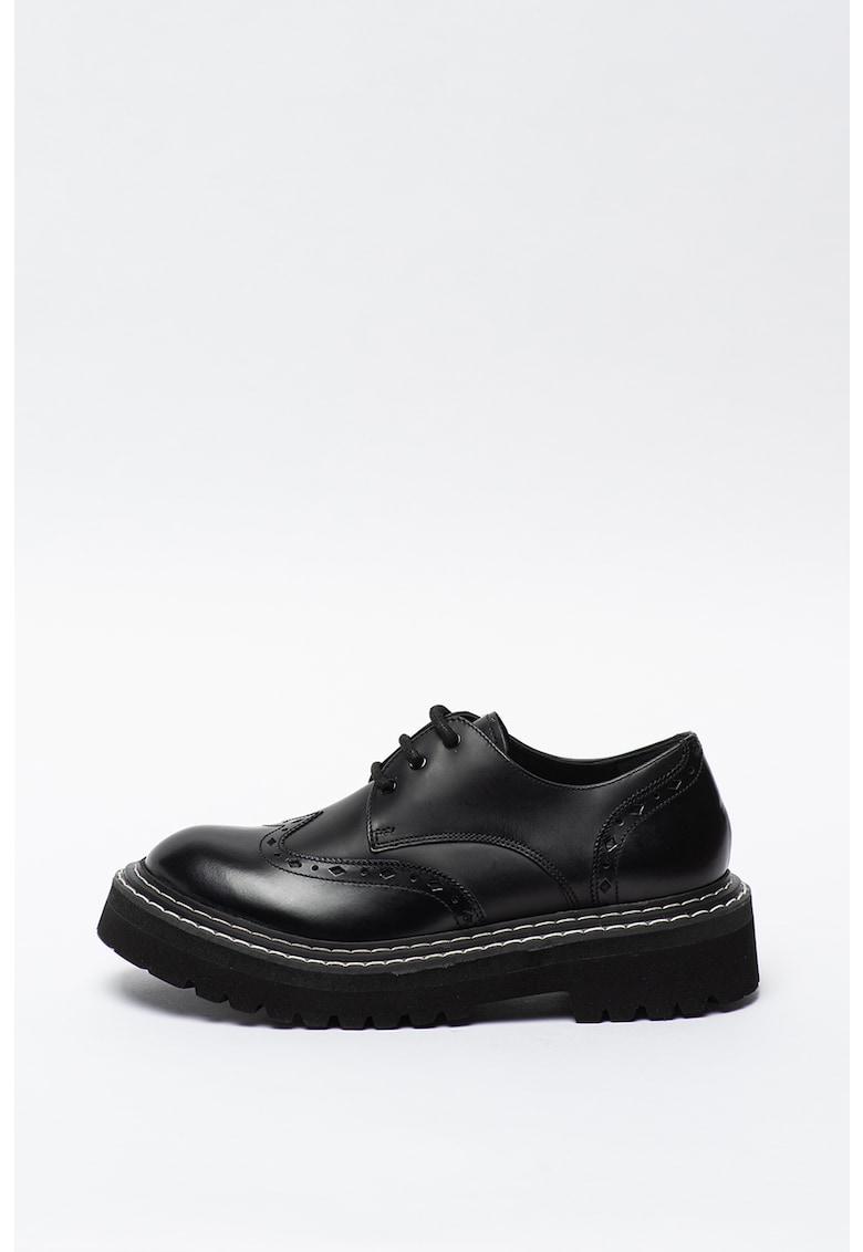Pantofi brogue de piele cu talpa masiva Patrol II Karl-Lagerfeld imagine 2021