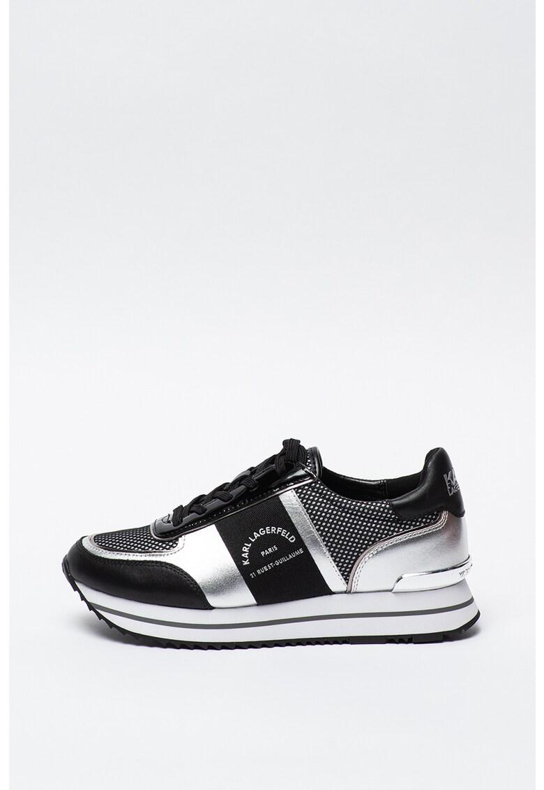 Pantofi sport de piele cu garnituri cu aspect metalizat Velocita II