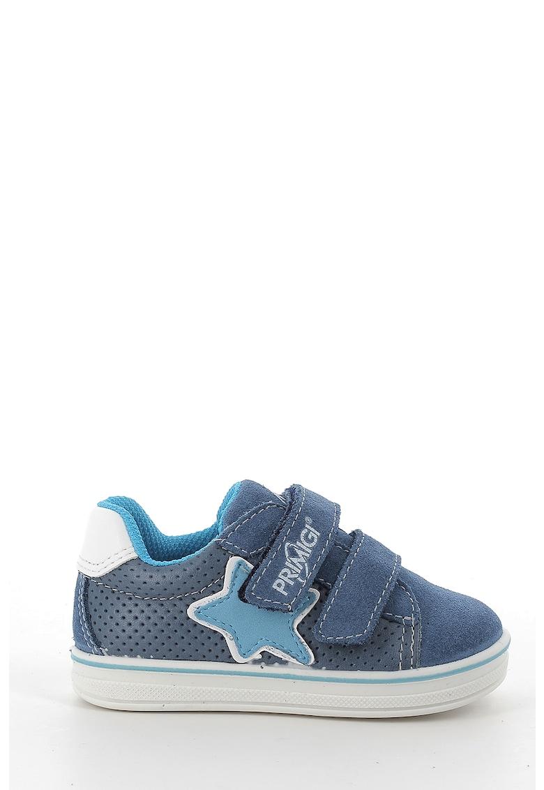 Pantofi sport de piele si piele intoarsa cu velcro Primigi fashiondays.ro