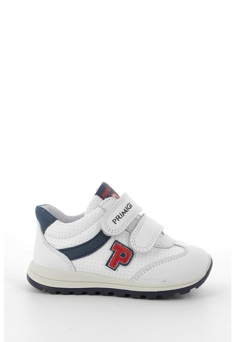 Pantofi sport cu velcro si detalii din piele