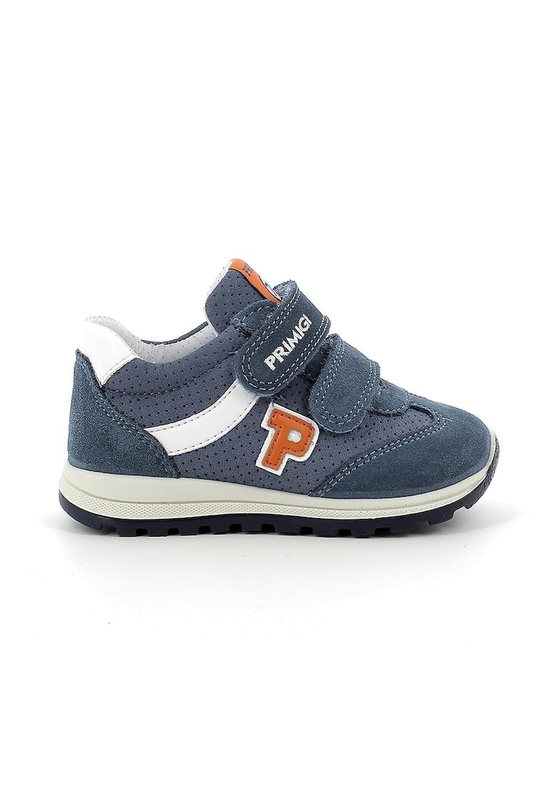 Pantofi sport de piele intoarsa ecologica cu garnituri de piele intoarsa imagine promotie