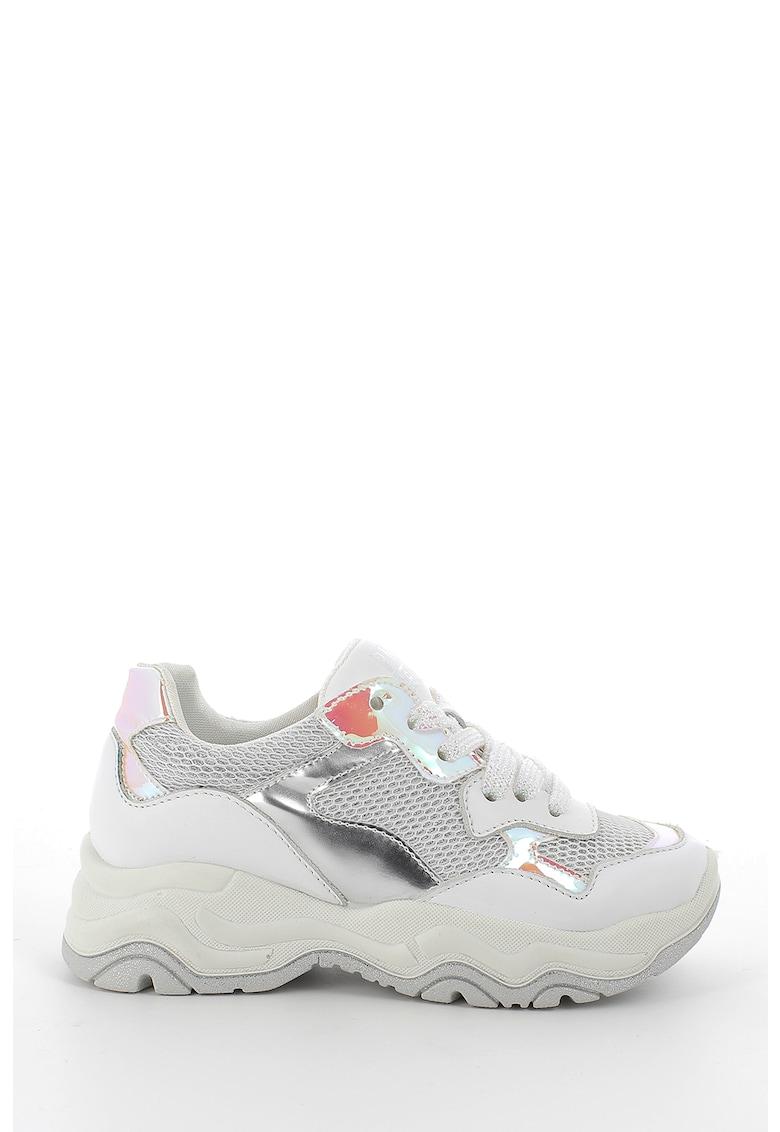 Pantofi sport cu detalii holografice