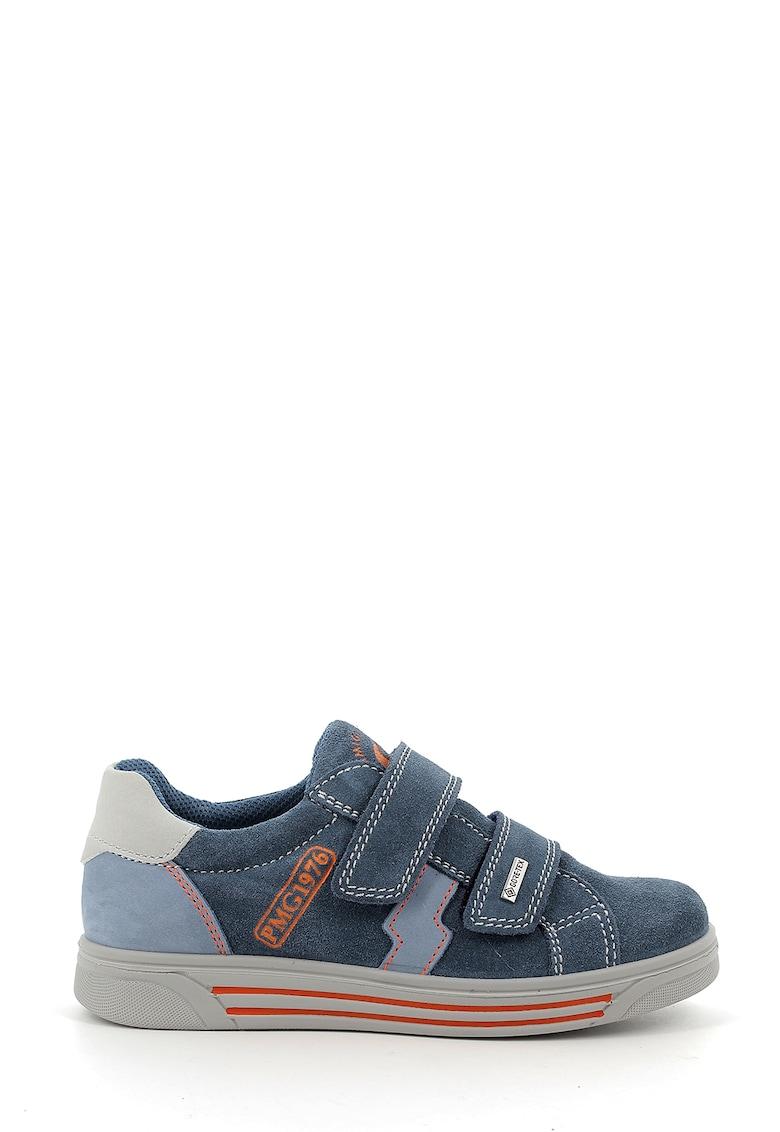 Pantofi sport de piele intoarsa si piele nabuc - cu velcro de la Primigi