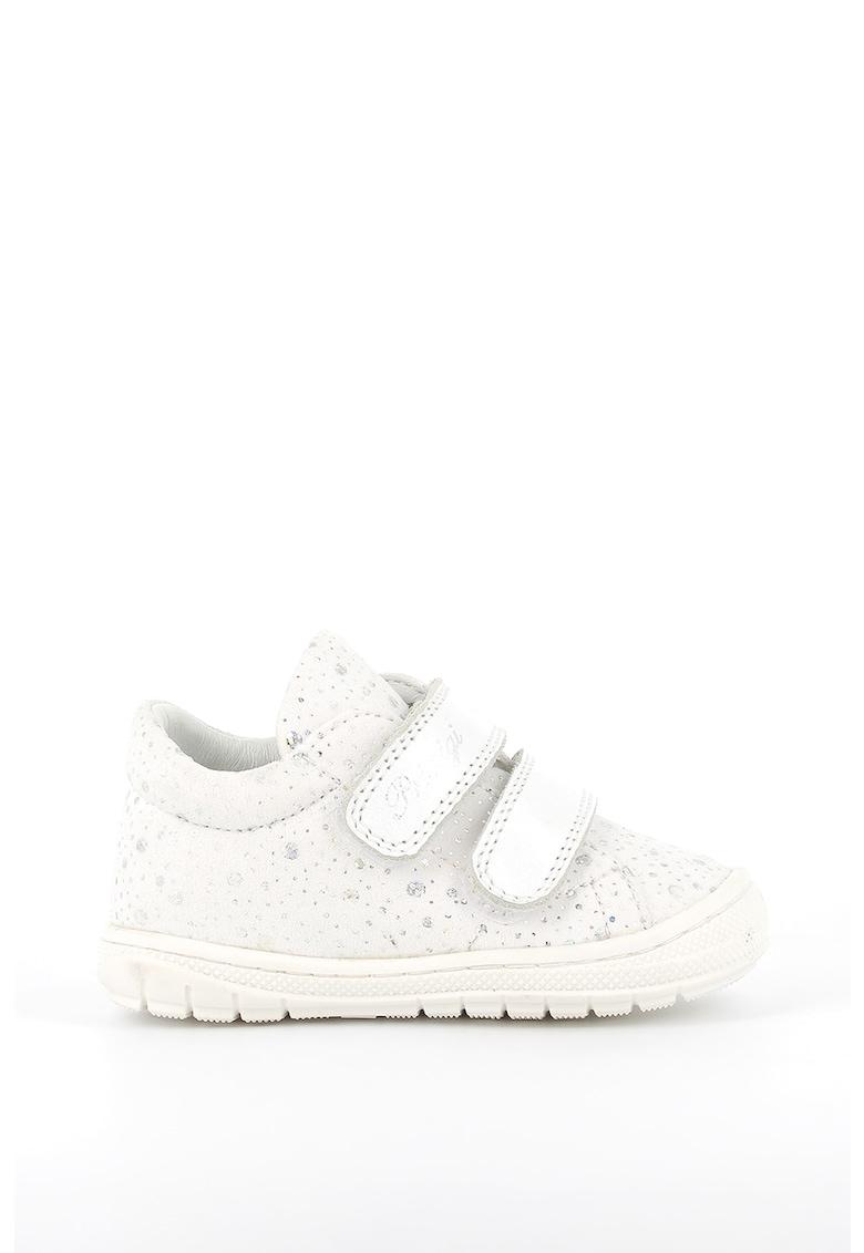 Pantofi de piele si piele ecologica cu velcro imagine promotie