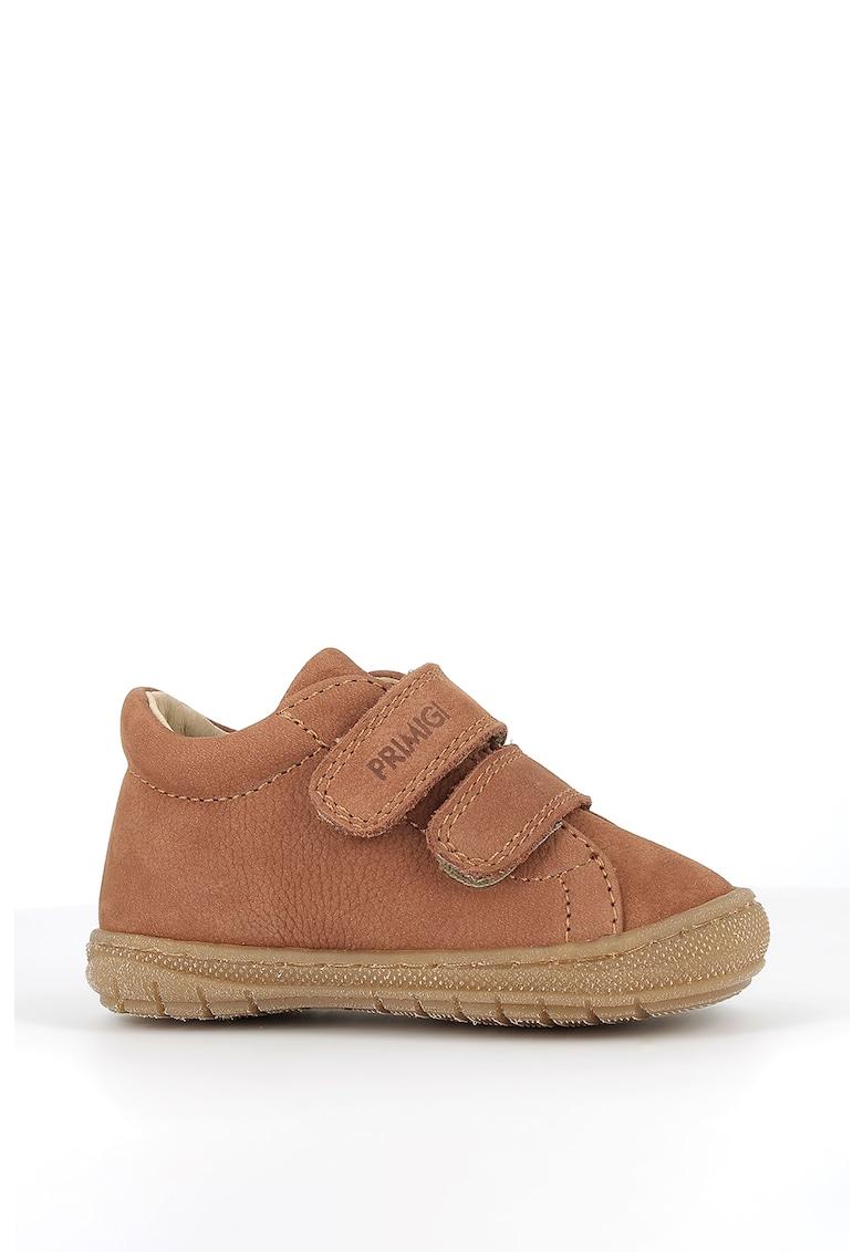 Pantofi de piele nabuc cu velcro imagine promotie