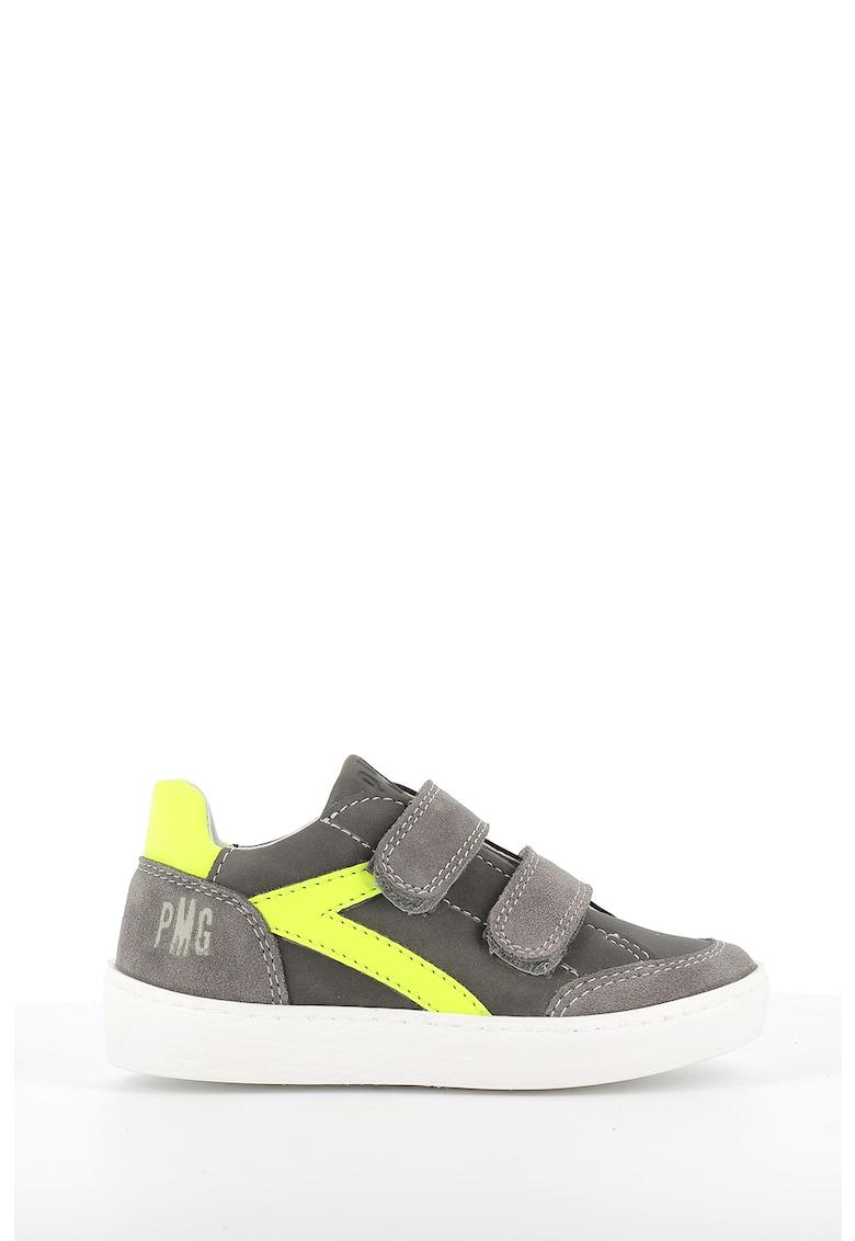 Pantofi sport de piele ecologica si piele intoarsa cu velcro Primigi fashiondays.ro