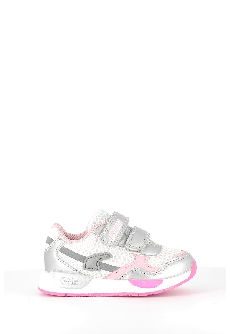 Pantofi sport de piele ecologica si plasa cu velcro Primigi fashiondays.ro