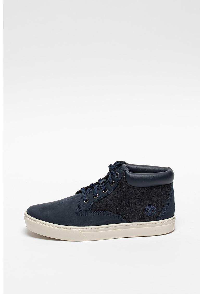 Pantofi casual de piele si material textil imagine