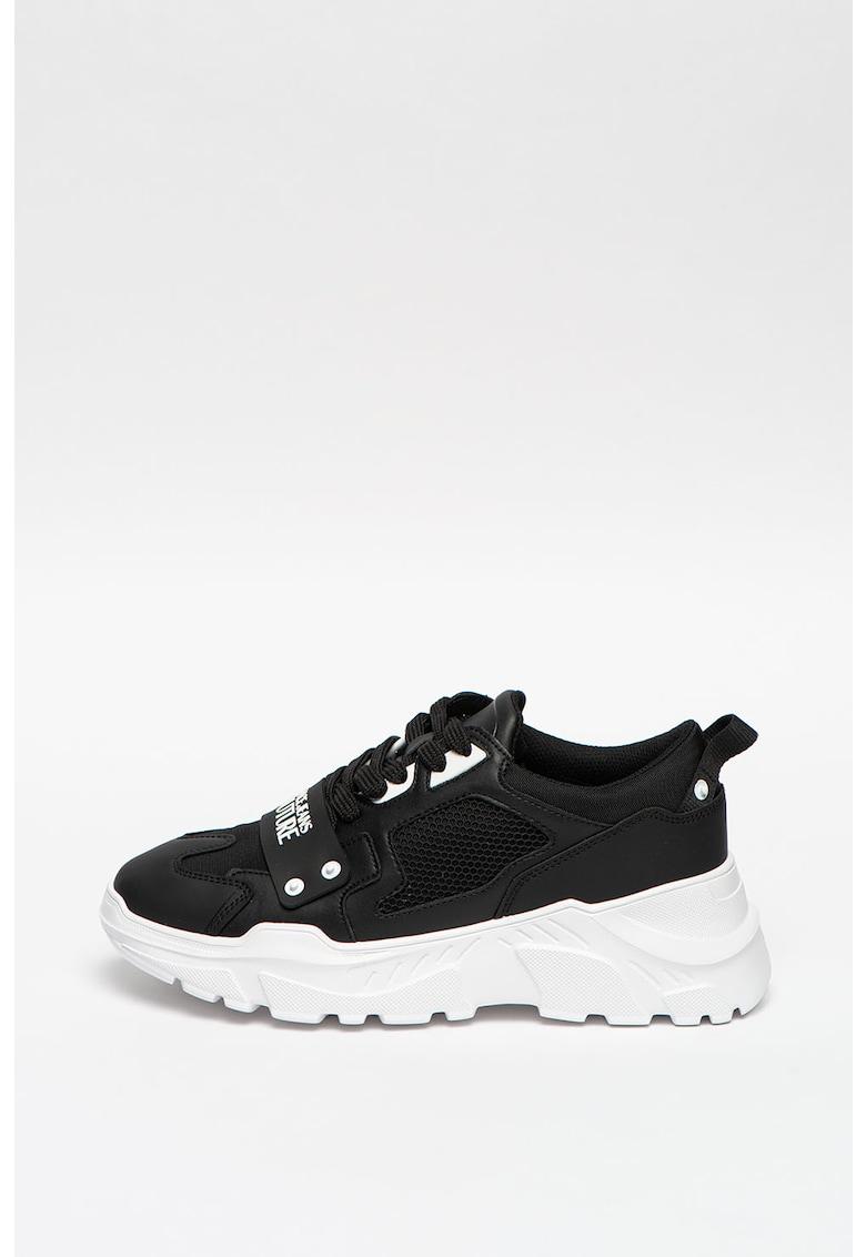 Pantofi sport cu aspect masiv - insertii din plasa si piele imagine promotie