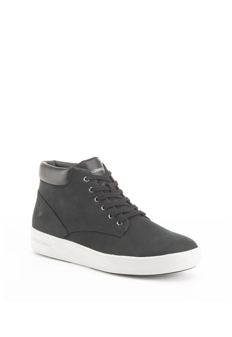 Pantofi sport hi-top de piele