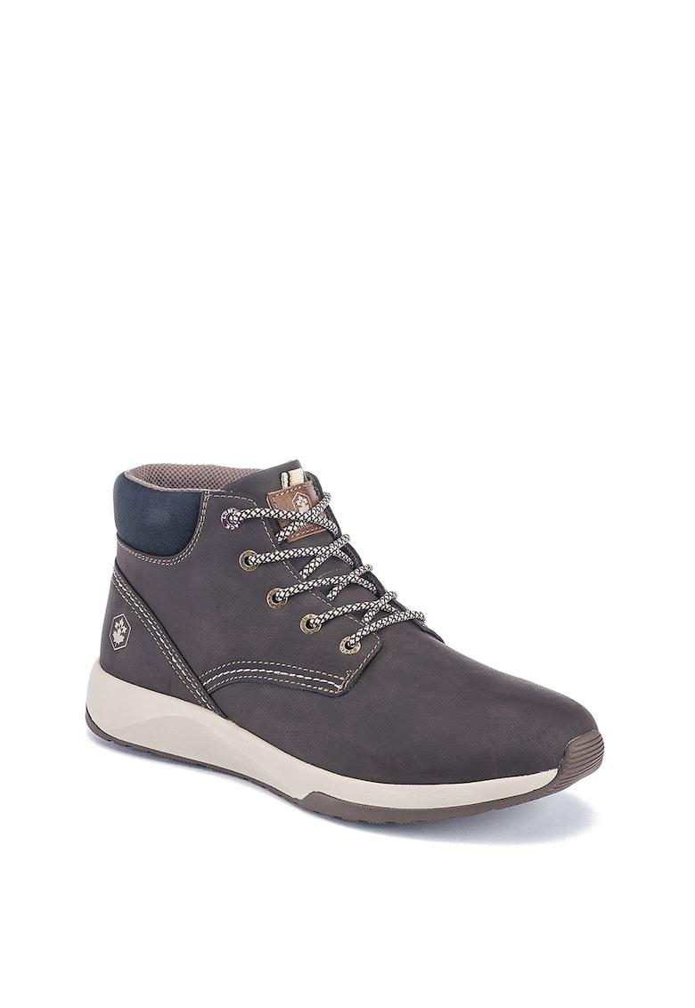 Pantofi sport hi-top de piele ecologica