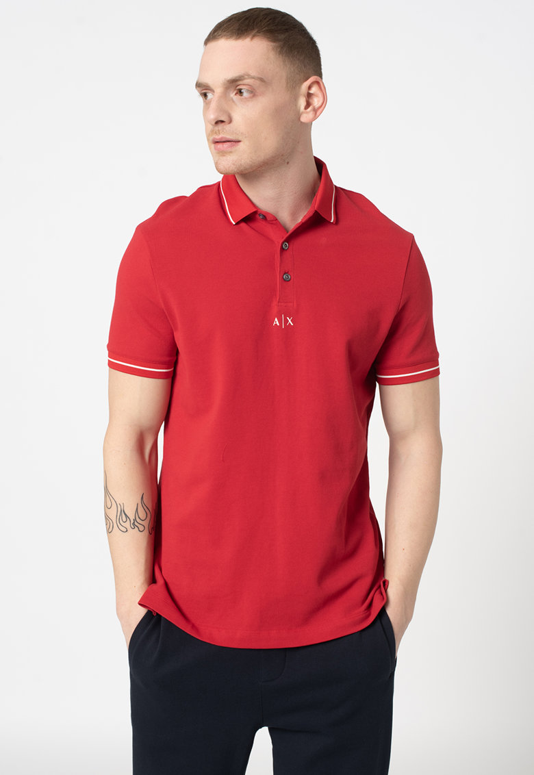 Tricou polo din material pique imagine