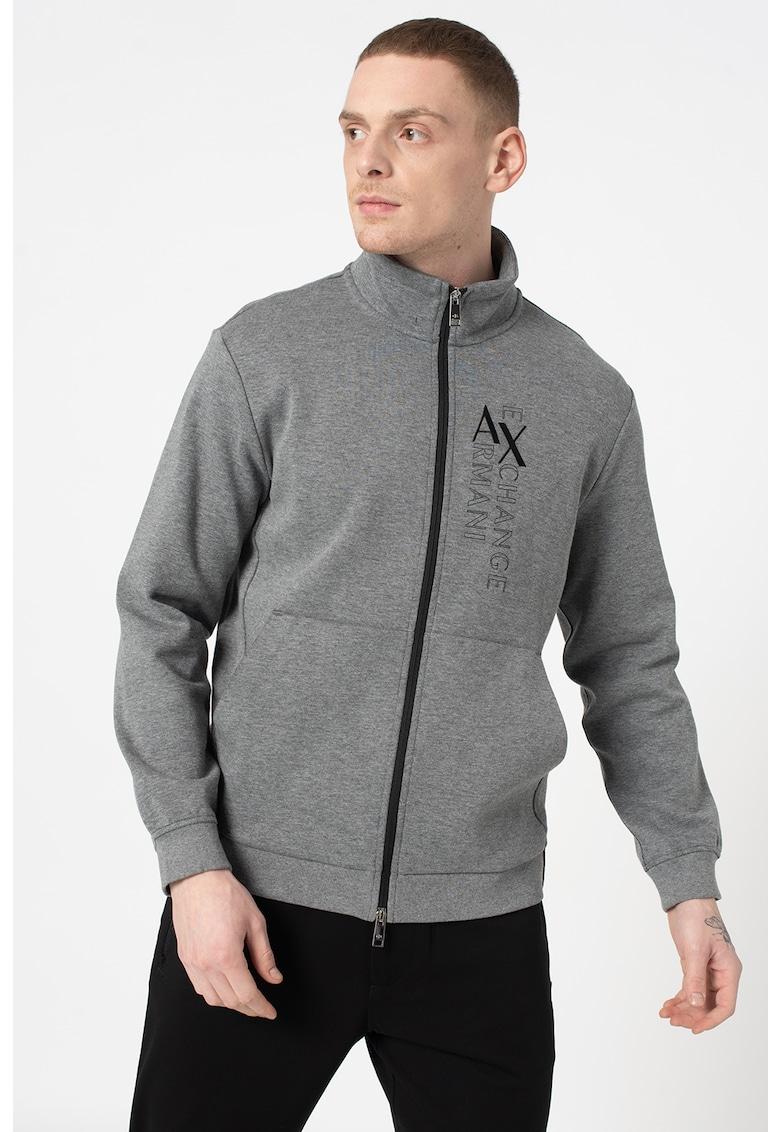 Bluza sport cu fermoar si model logo imagine promotie