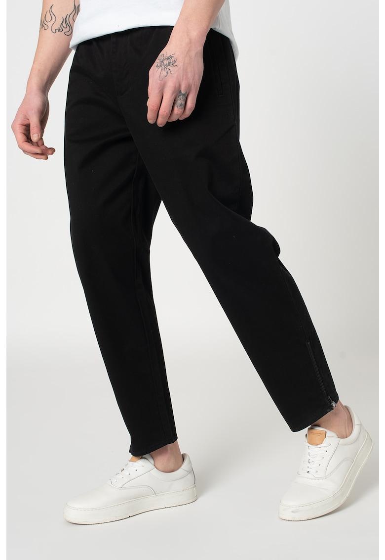 Pantaloni chino drepti cu slituri cu fermoar - pe glezna imagine promotie