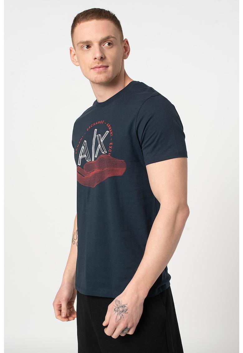 Tricou slim fit cu imprimeu imagine promotie