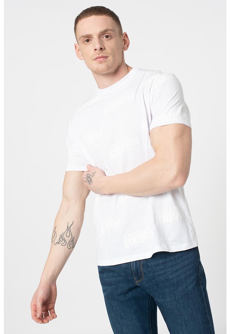 Tricou regular fit cu imprimeu logo imagine promotie