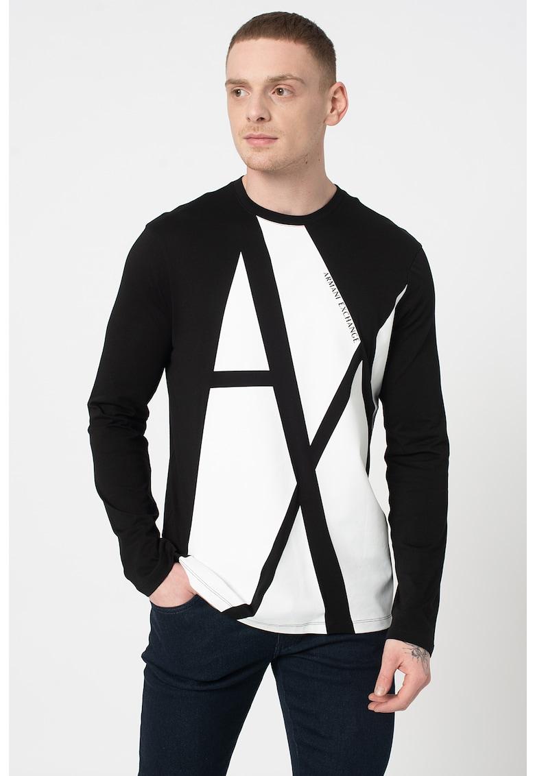 Bluza cu imprimeu logo imagine promotie