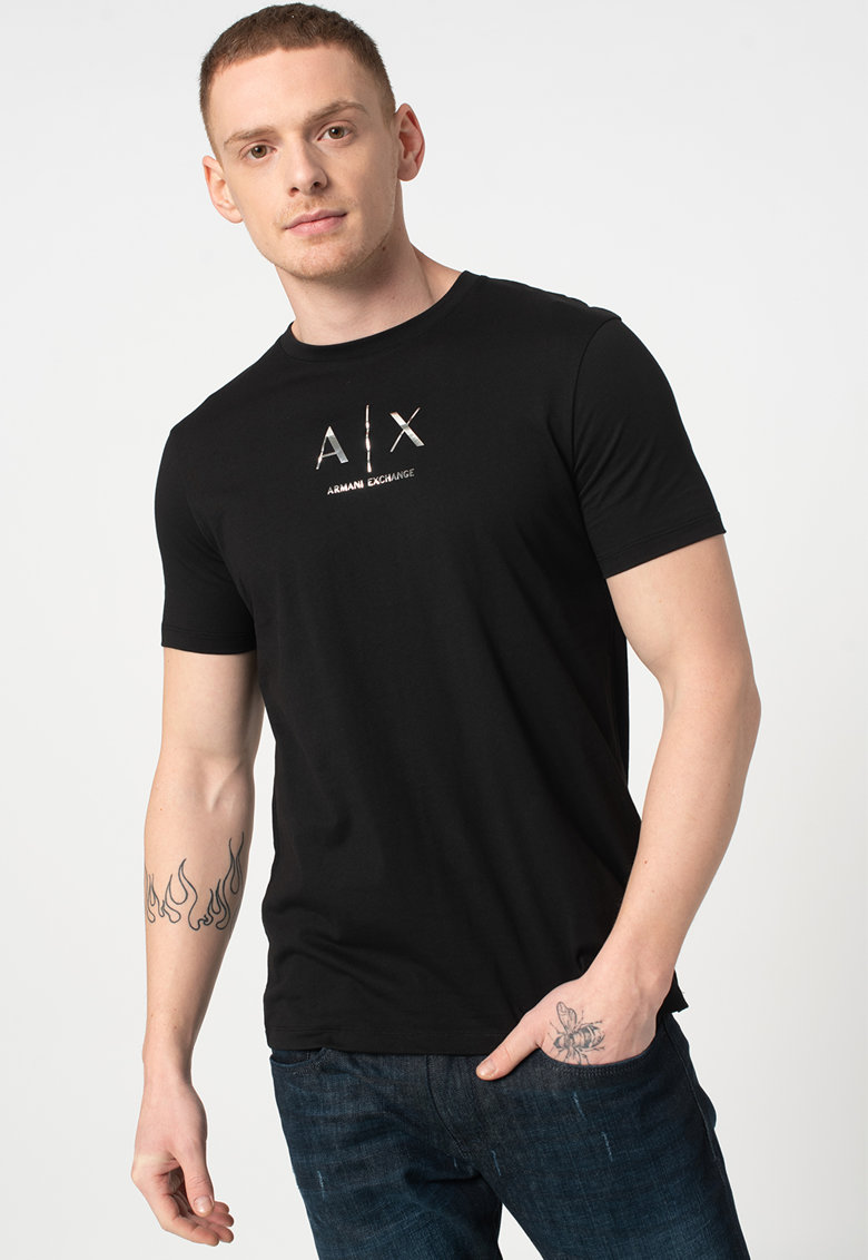 Tricou cu imprimeu logo metalizat imagine promotie