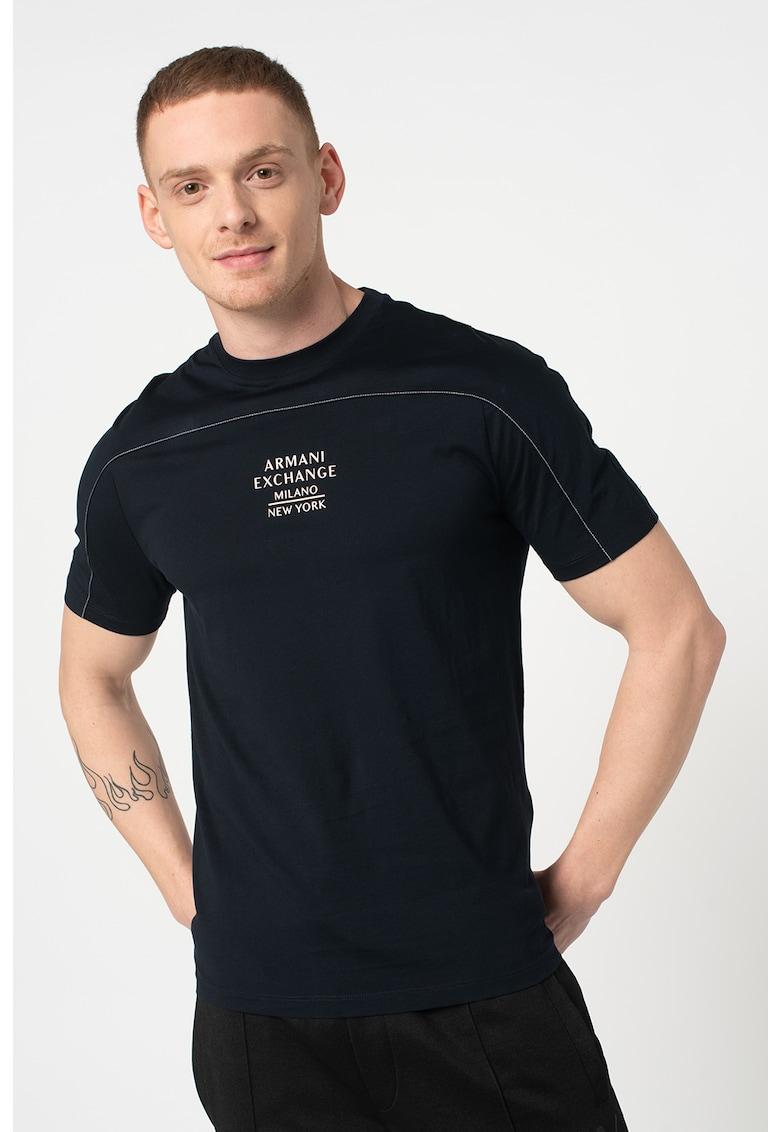 Tricou de bumbac cu imprimeu logo imagine promotie
