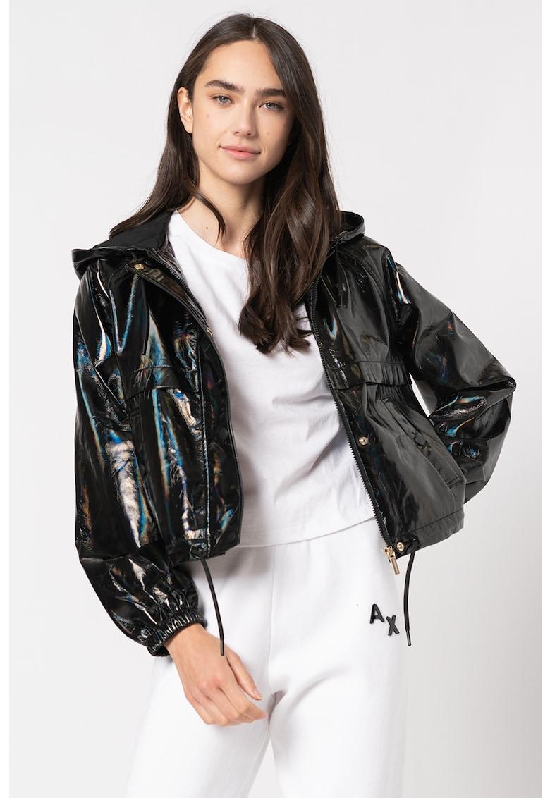 Jacheta de piele ecologica cu fermoar