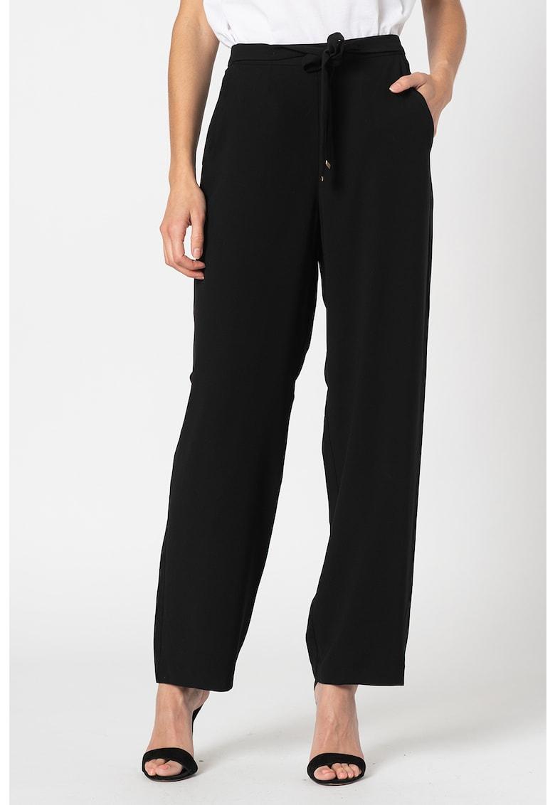 Pantaloni drepti cu talie inalta imagine promotie