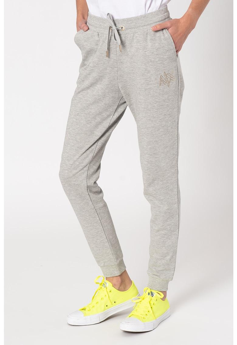 Pantaloni sport conici cu snur imagine