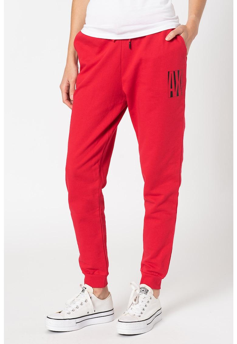 Pantaloni sport conici cu snur in talie imagine promotie