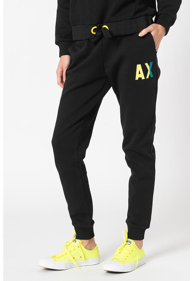 Pantaloni sport conici cu talie medie imagine promotie