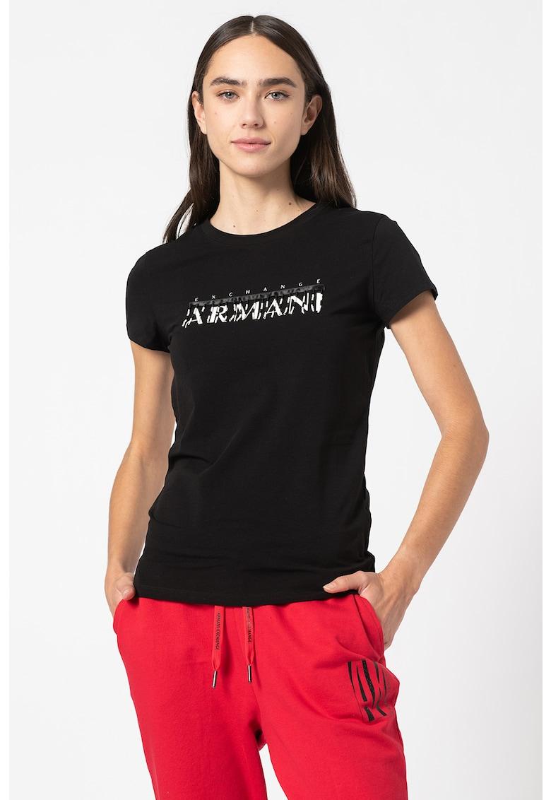 Tricou cu imprimeu logo si margele imagine promotie