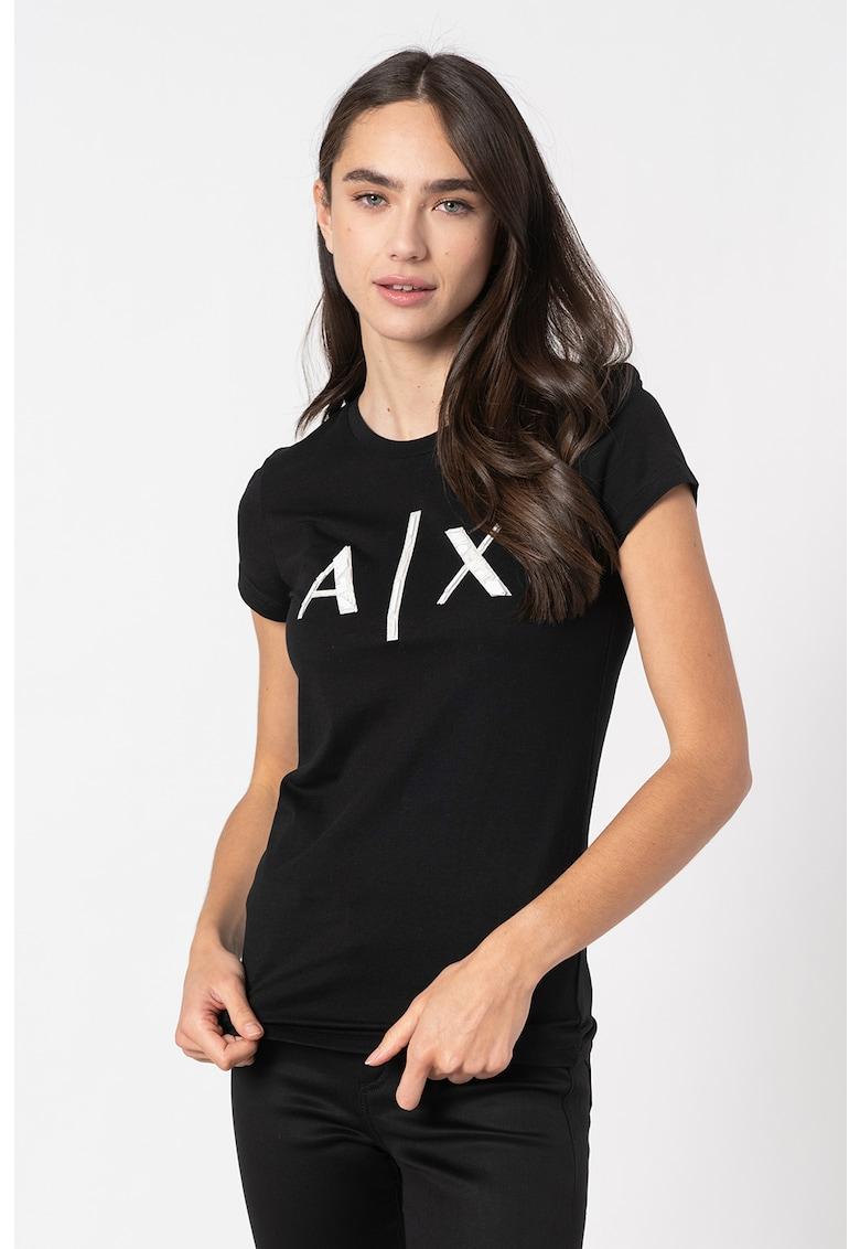 Tricou din amestec de modal cu logo imagine promotie