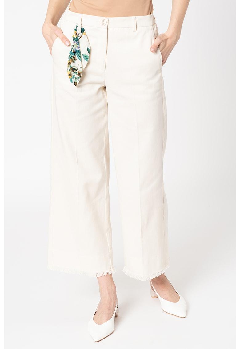 Pantaloni crop cu croiala ampla Sovrana