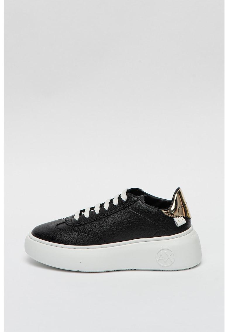 Pantofi sport wedge de piele imagine promotie