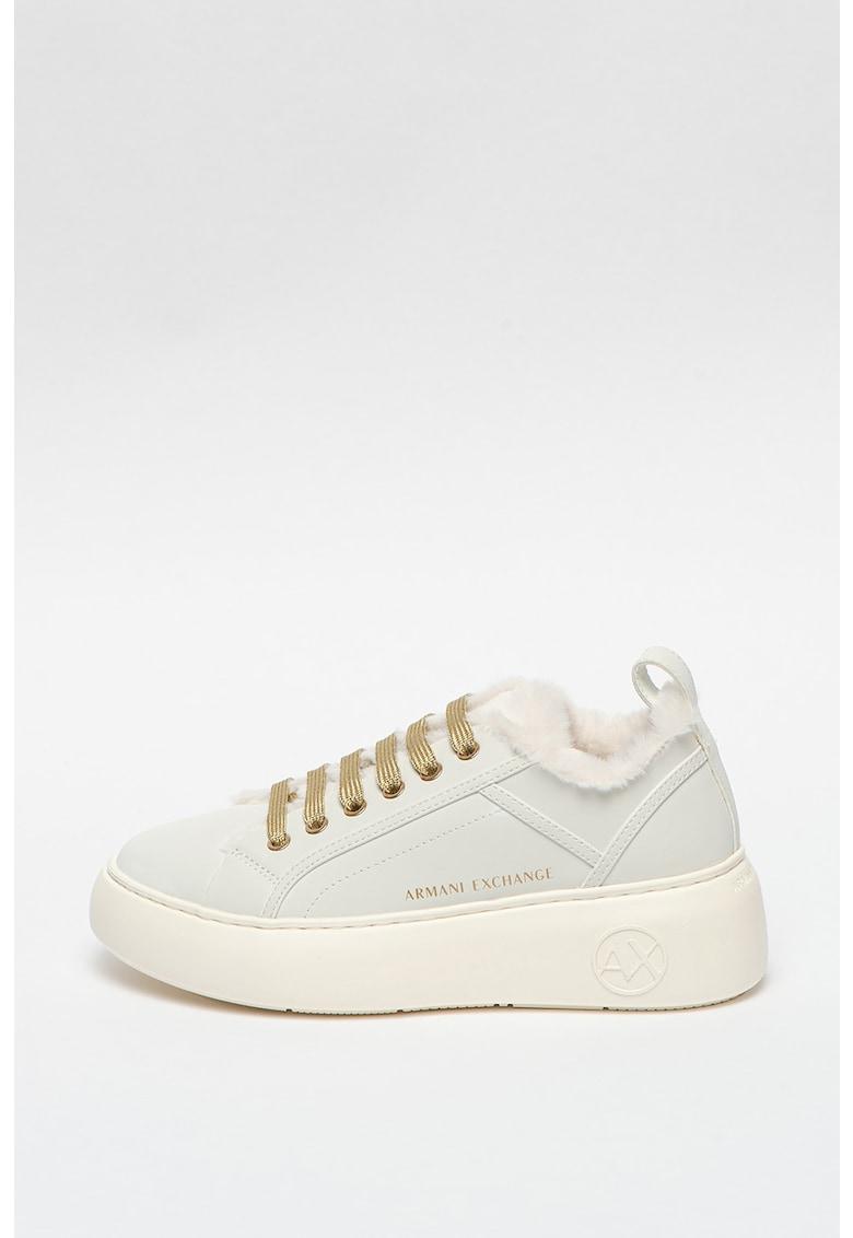 Pantofi sport de piele ecologica cu platforma imagine promotie