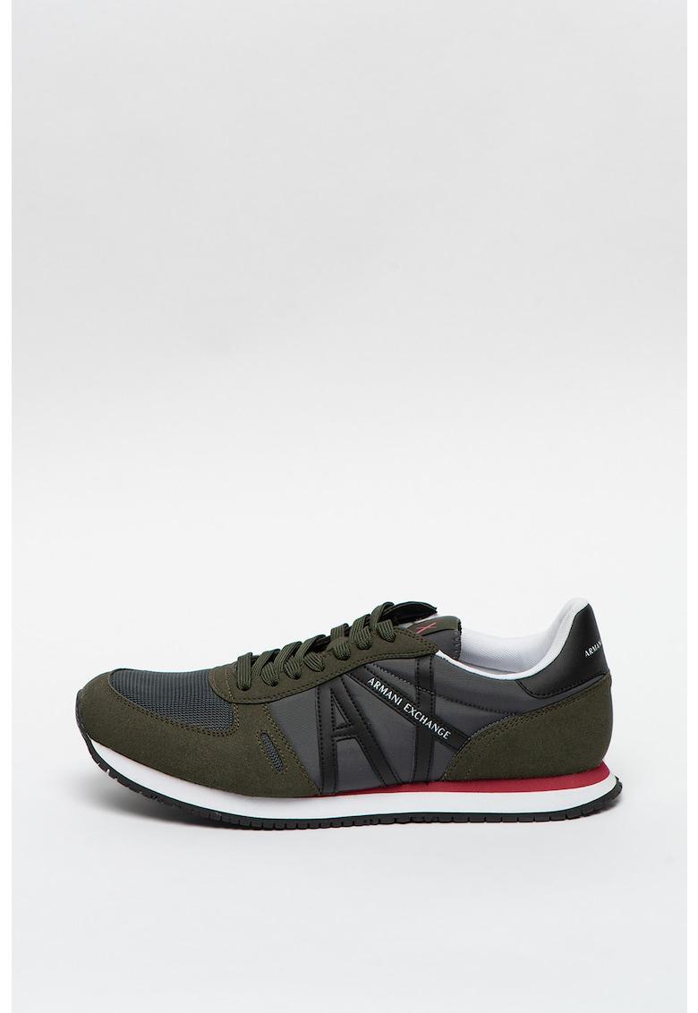 Pantofi sport cu model colorblock