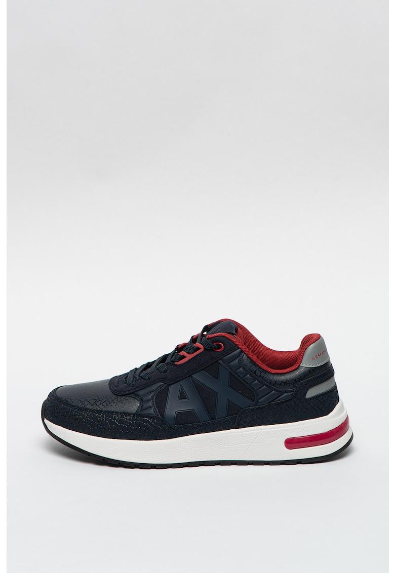 Pantofi sport de piele ecologica cu aspect crapat imagine promotie