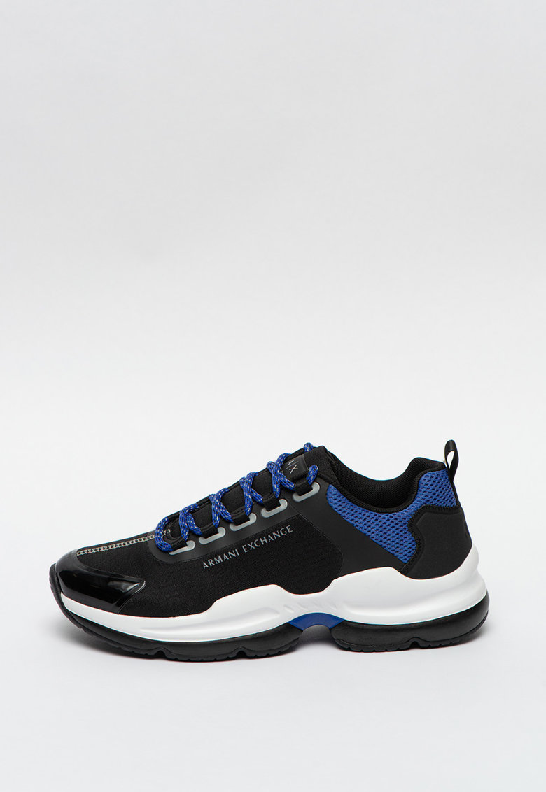 Pantofi sport cu aspect masiv si insertii de plasa imagine promotie