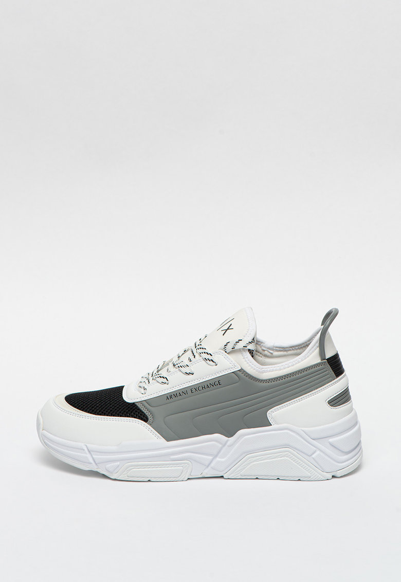 Pantofi sport de piele ecologica cu insertii de plasa imagine promotie