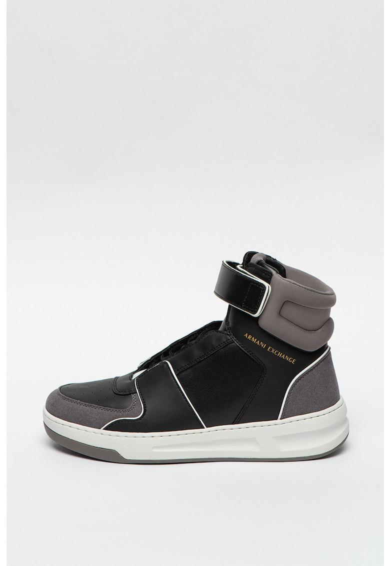 Pantofi sport high-top cu banda velcro