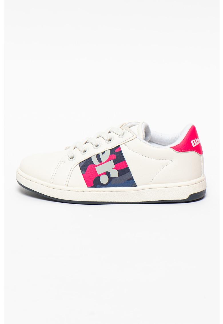 Pantofi sport din piele ecologica cu detalii logo Dory