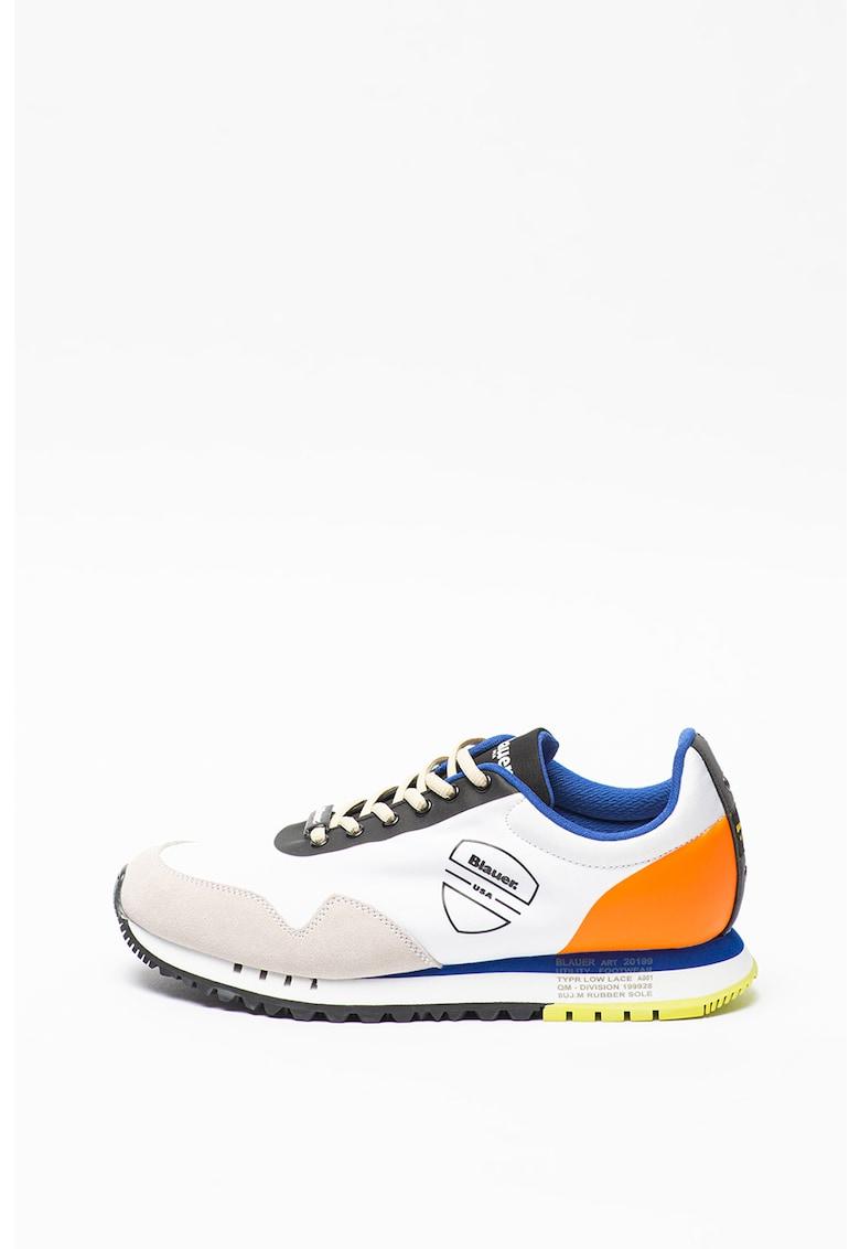 Pantofi sport cu insertii de piele intoarsa Denver