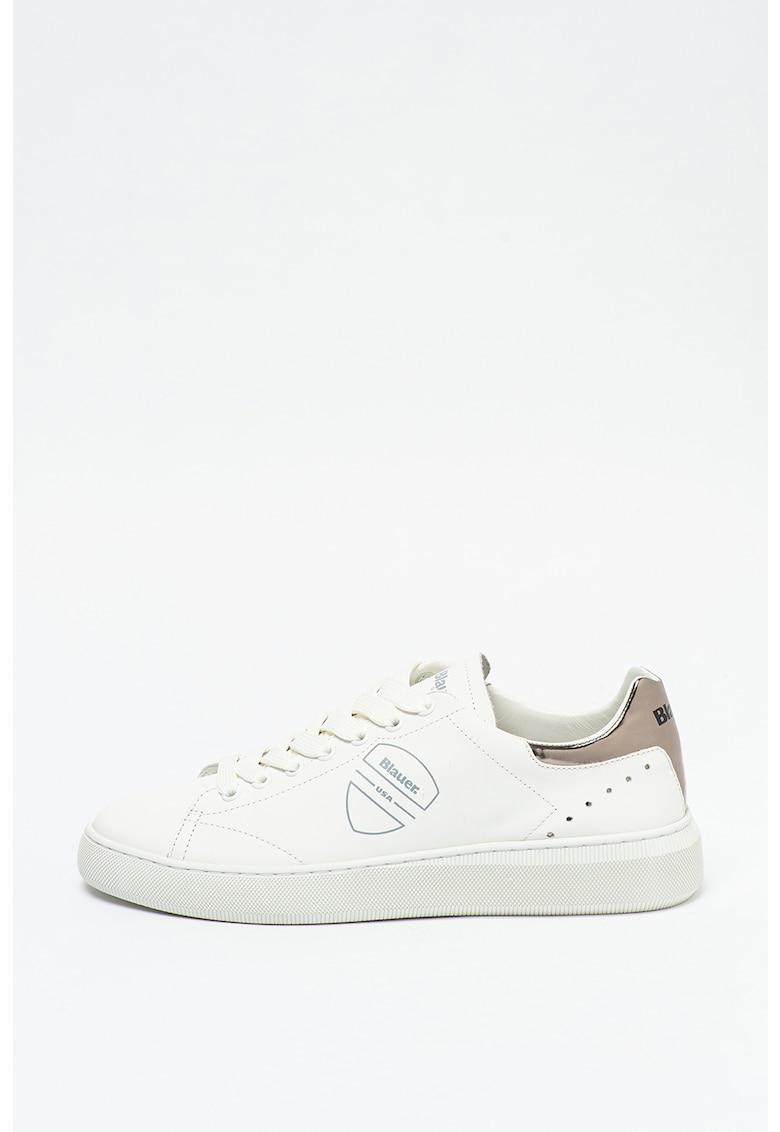 Pantofi sport din piele cu garnitura din piele lacuita Kendall imagine