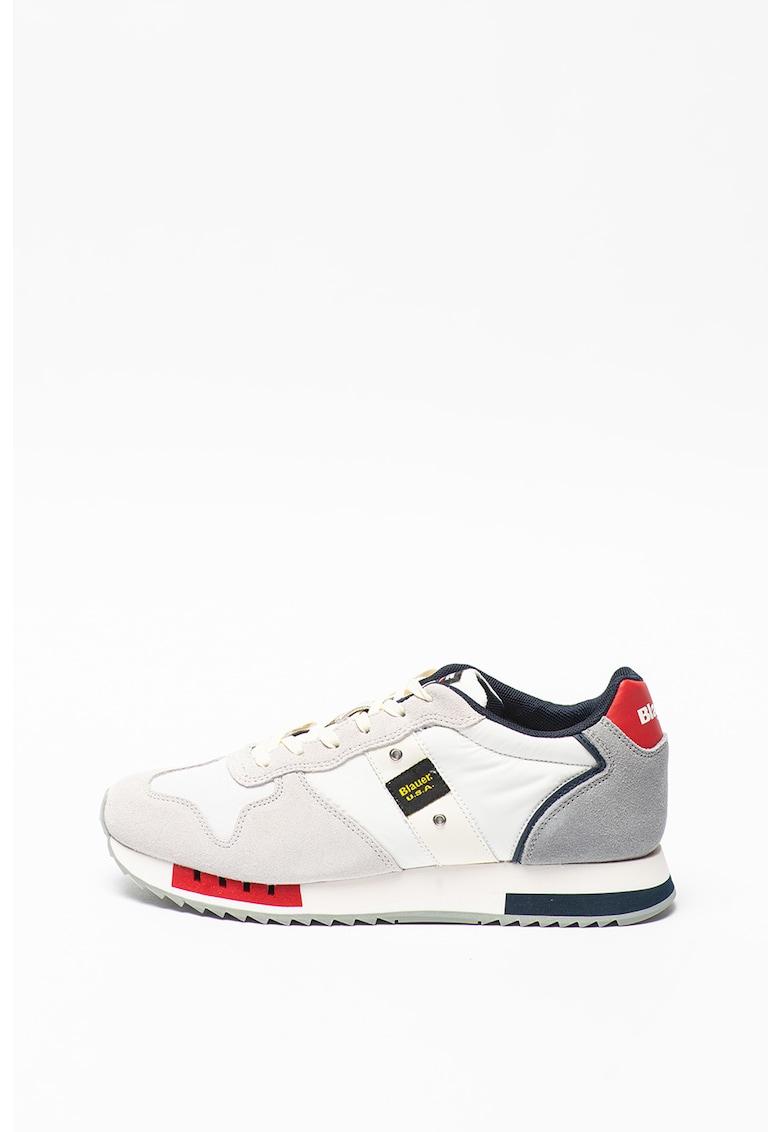 Pantofi sport cu insertii de piele intoarsa Queen imagine