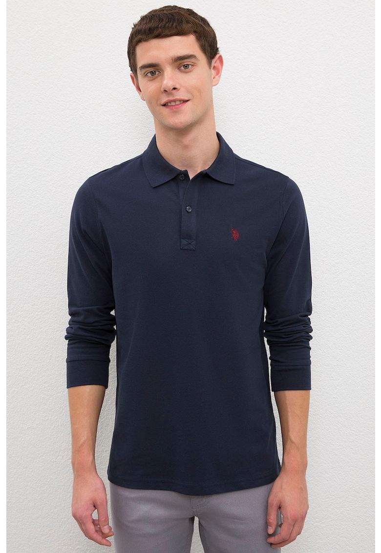 Bluza polo cu logo brodat imagine