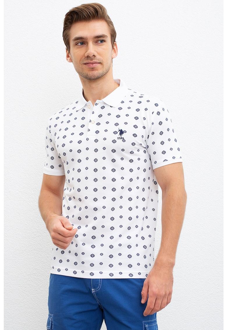 Tricou polo cu imprimeu Bărbați imagine