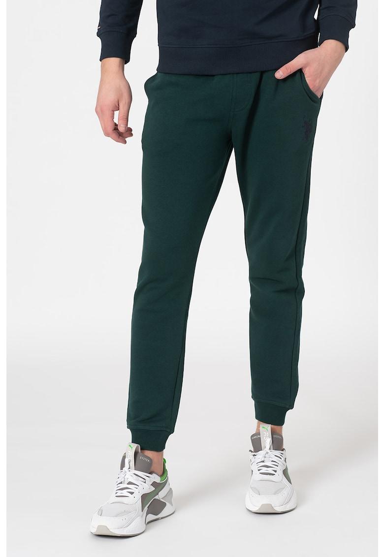 Pantaloni sport cu logo brodat fashiondays.ro