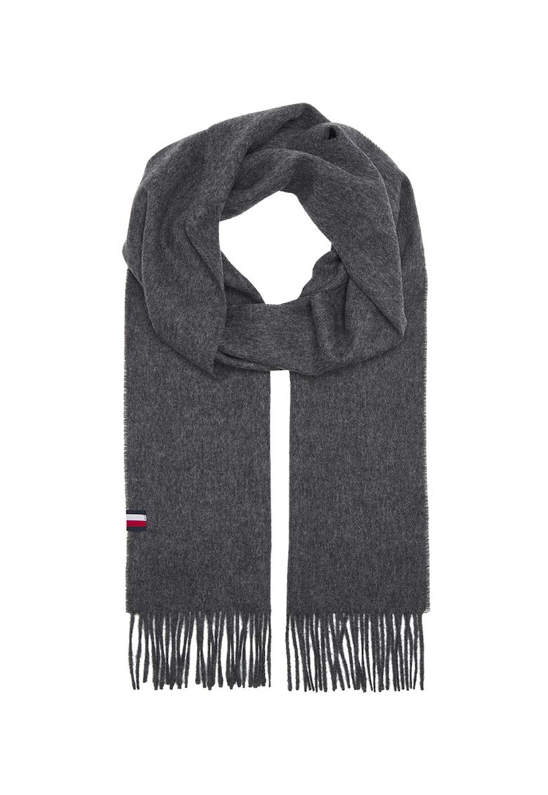 Fular din lana cu franjuri imagine