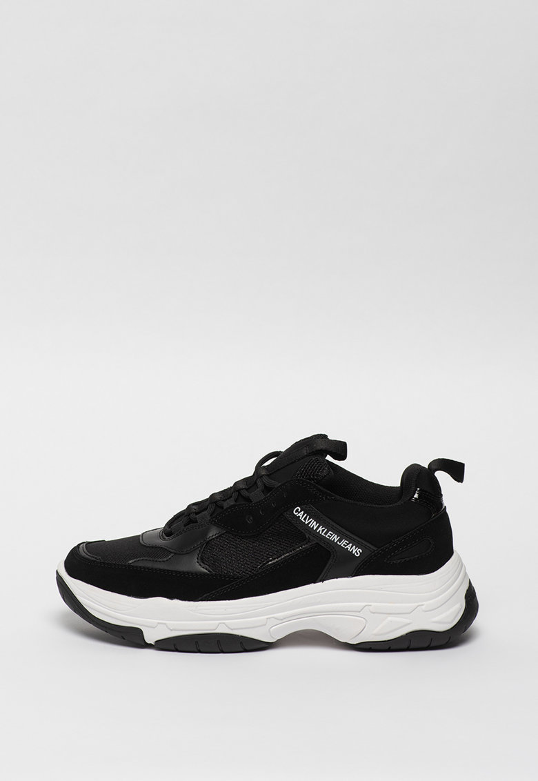 Pantofi sport cu insertii de piele intoarsa si piele Marvin