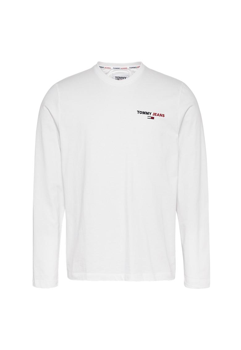 Bluza din bumbac organic cu logo imagine promotie