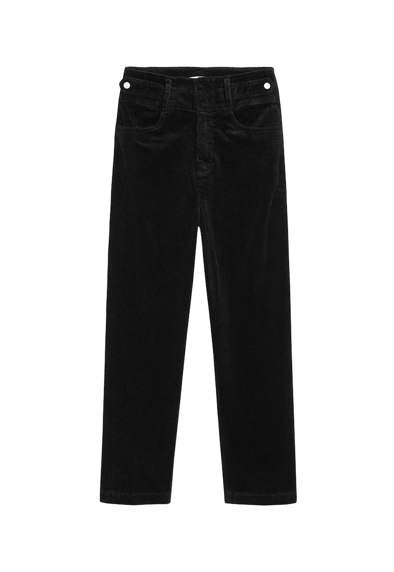 Pantaloni crop de reiat imagine promotie